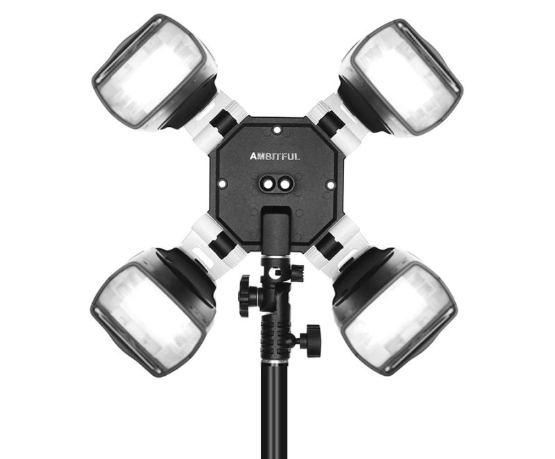 Quad flash double umbrella bracket