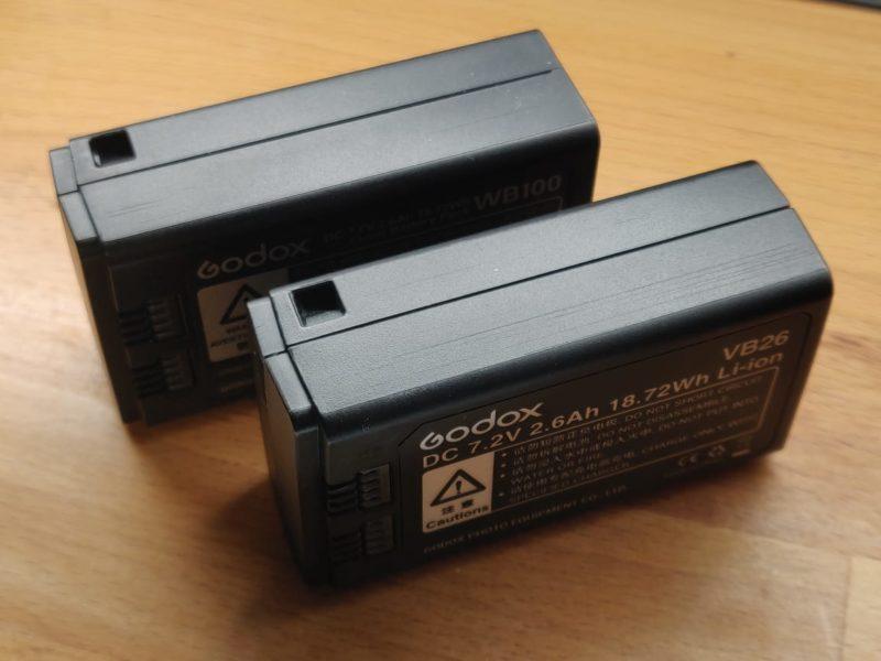 Godox VB26 and WB100